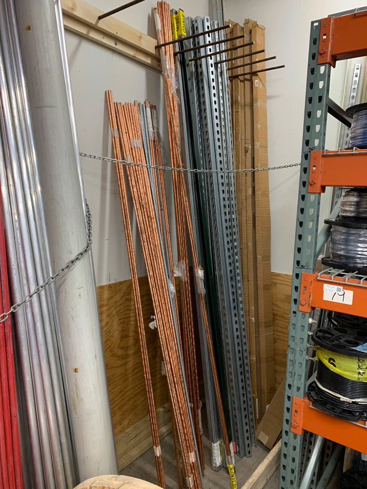 Ground Rods, Unistrut, wiremold