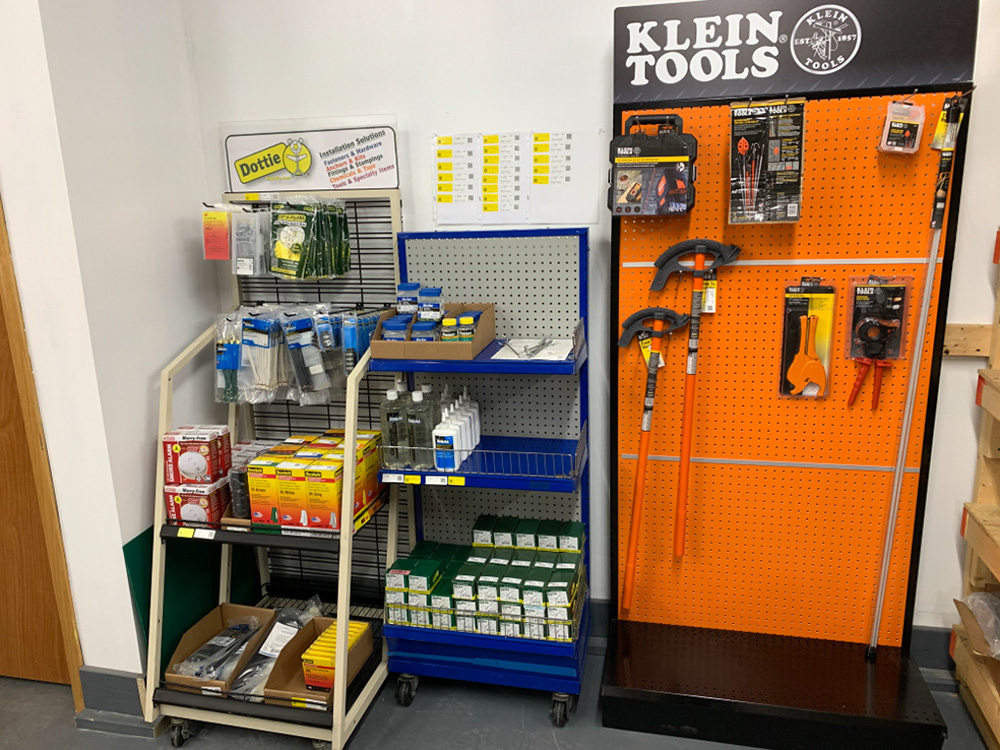 Klein tools, Tape, Staples, Pig Tails, wire markers, smoke alarms